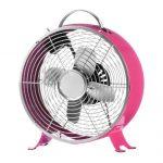 "Retro Clock Fans 10"" - Pink"