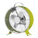 """Retro Clock Fan 10"""" - Lime Green"""