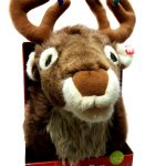 Our Reindeer Ray in Gift comes in a try me box  1.      Sings multiple songs  2.      Has  a motion sensor  3.      Has LED lights  4.      Size in box is 40cm x 45xm 27cm