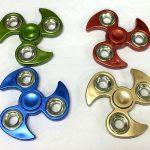 TY-FS12 - Chrome Ninja With Silver Rings Fidget Spinner