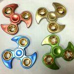 TY-FS12 -Chrome Ninja With GoldRings Fidget Spinner