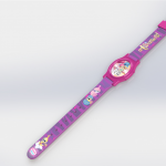 Purple Shimmer and Shine  With Pink Face Plate LCD