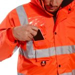 High Visibility Jacket - Zoomed View